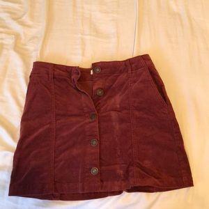 Burgundy vintage vinyl skirt
